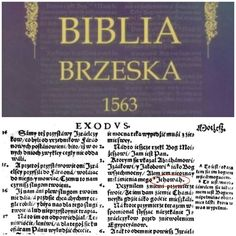 Biblia Brzeska 1563