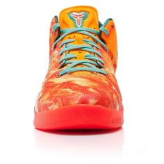 Nike Kobe 8 System All-Star GS ($200) ❤ liked on Polyvore featuring shoes, sneakers, nike, kobe, nike footwear, star shoes, nike trainers, galaxy shoes and nike sneakers