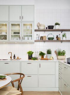 Kle kjøkkenet i naturens fargepalett