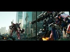 Transformers Dark of the moon Optimus prime vs Sentinel prime (1080pHD VF) - YouTube