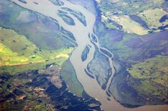 The Amazon river as seen from the International Space Station