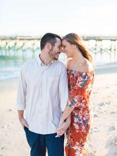 Wrightsville Beach Engagement Session   Engagement Photo Ideas   Wilmington NC Wedding Photographer