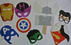 Super Hero  Party -Hulk Hawk Eye Super Man Thor Captain America   Party  Decorations   Inspired Photo Booth Prop  Comic Photo Booth Props