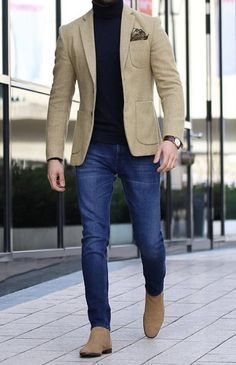 Men casual styles 709668853764535650 - Men Style Outfits Every Guy Should Look at for Inspiration Nice Loking Casual Blazer for Men with Jeans 1 Source by ladysmithstreethockey Blazer Outfits Men, Mens Fashion Blazer, Stylish Mens Outfits, Suit Fashion, Men Blazer, Men's Work Fashion, Mens Blazer Styles, Men's Formal Fashion, Men's Casual Fashion