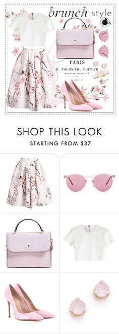"""Brunch With Friends"" by fabulousbyangelika ❤ liked on Polyvore featuring Oliver Peoples, Kate Spade, Neil Barrett, Gianvito Rossi and brunch"