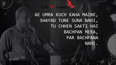 17 Amazing Piyush Mishra Poetry- Soul Stirring Shayaris - Life 'N' Lesson Poetry Hindi, Hindi Words, My Poetry, Poetry Quotes, Motivational Shayari, Motivational Lines, Piyush Mishra Quotes, Comfort Quotes, Bollywood Quotes