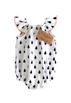 Sewing Baby Gift Sweet Handmade Raindrops Romper by Sunny Afternoon on Etsy - Baby Girl Romper, My Baby Girl, Baby Love, Baby Dress, Baby Outfits, Toddler Outfits, Kids Outfits, Baby Girl Fashion, Toddler Fashion