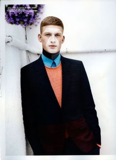 Bastian Thiery photographed by Paul Wetherell and outfitted by Matthias Karlsson with pieces by Raf Simons, Balenciaga, Marc Jacobs, Lanvin and morem for the latest issue of 10 Men magazine.