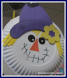 photo of Paper Plate Scarecrow Craft for Fall. & Scarecrow Paper Plate Craft for Thanksgiving   Paper plate crafts ...
