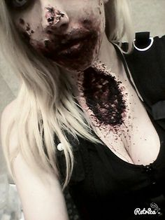 Zombie idea, ripped out throat