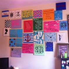 A wall of canvases!