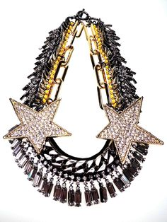 Venna KapoW and spiked necklace. Available at Le Louvre, Melbourne.