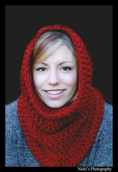 Carol's Hooded Cowl pattern on Craftsy.com