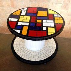 Carretel em mosaico Mondrian Style - Estúdio Joe & Romio