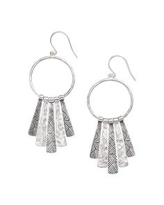 French Wire Drops. Etched and Hammered Sterling Silver. High-quality, high-fashion Sterling Silver Jewelry that allows women to design the life of their dreams.  Available at Silpada.com #SilpadaStyle