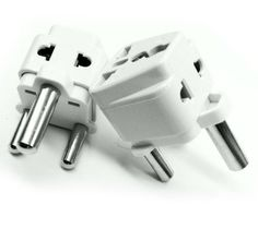 Tmvel Grounded Universal 2 in 1 Plug Adapter Type M for South Africa & more - Outstanding Quality - CE Certified - RoHS Compliant - 1PC - TMV-F2IN1