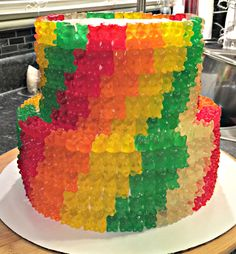 Gummy Bear Cake made for a co-worker