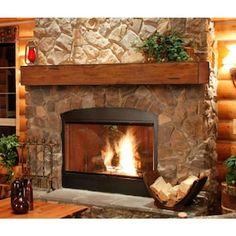 Pearl Mantels Shenandoah Traditional Fireplace Mantel Shelf - Fireplace Mantels & Surrounds at Hayneedle Wood Mantel Shelf, Rustic Fireplace Mantels, Fireplace Shelves, Wood Mantels, Home Fireplace, Fireplace Remodel, Fireplace Design, Fireplace Ideas, Modern Fireplace
