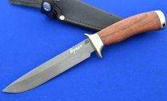 Нож НКВД сталь Булат, рукоять Бубинга, литьё мельхиор (в наличии)