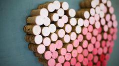 Ombre Wine Cork Heart from Green Wedding Shoes