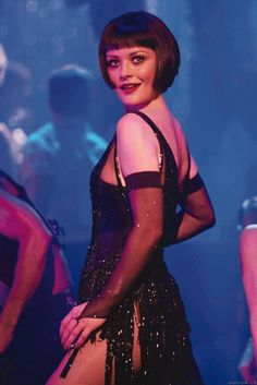 """Colleen Atwood--costume Designer for """"Chicago"""". Sheer sleeves and fishnet tights complete Velma Kelly's 1920's showgirl look. Check out our sexy spooky sale for your halloween tights needs -  25% off . www.shelbymason.com #bootights #sexyspooky"""