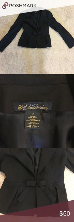 Bow Blazer Brooks Brothers Super cute. Great condition! Darling bow Brooks Brothers Jackets & Coats Blazers