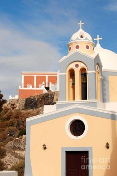 Church in Fira, Santorini Greece