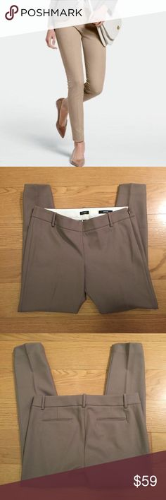 J. Crew Wool Minnie Pant J. Crew Wool Minnie Pant. -Size 6. -Light brown. -Side zip. -Wool. -Like new!  NO Trades. Please make all offers through offer button. J. Crew Pants