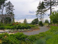 Stay in Boothbay Harbor and visit the Coastal Maine Botanical Gardens in nearby Boothbay. http://www.mainegardens.org/