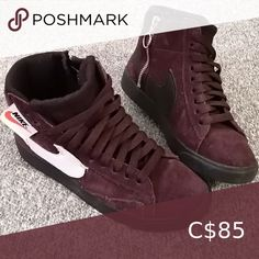 Nike HI-top Sneakers Hi-top Nike Sneakers Side zipper with pull ring Burgundy suede material Like new condition Size 5 (fits small) Nike Shoes Sneakers Yellow Nikes, White Nikes, Running Shoes Nike, Nike Shoes, Nike Hi Tops, Nike Free Run 3, Nike Runners, Air Huarache, Silver Shoes