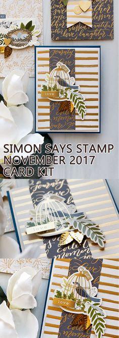 Simon Says Stamp | November 2017 Card Kit - Handmade Cards Inspiration by Yana Smakula