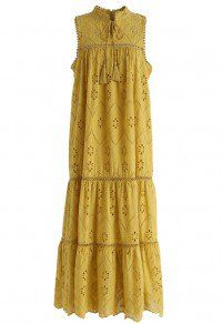 Try To Be Boho Embroidered Eyelet Maxi Dress in Mustard - Maxi - DRESS - Retro, Indie and Unique Fashion Source by mishqahc fashion clothing Unique Fashion, Modest Fashion, Fashion Outfits, Stylish Dresses, Casual Dresses, Summer Dresses, African Fashion Dresses, African Dress, Maxi Styles