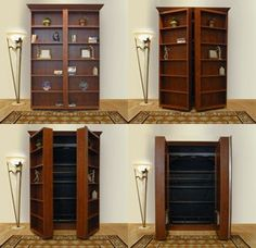 bookshelf murphy bed...omg perfect guestroom!