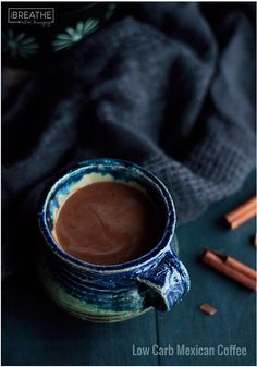 Move over PSL, this low carb coffee + cocoa + homey spices = Mexican Coffee is my new favorite keto beverage!