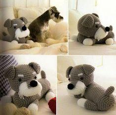 Little Dog Amigurumi - Free Japanese Pattern here: http://tiaodongdemaorong.blog.163.com/blog/static/200322059201272394131561/