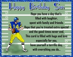 Sporty birthday wishes for a special son. Free online Son Birthday Wishes ecards on Birthday Birthday Hug, Birthday Wishes For Son, Birthday Songs, Very Happy Birthday, Birthday Cards, Happy Panda, Colorful Birthday, Wishes For You, Big Hugs