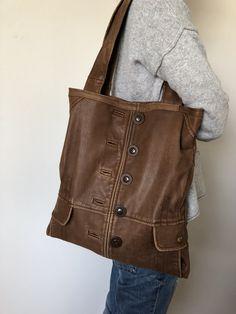 Tasche aus alter Lederjacke Alter, T Shirts, Reuse, Messenger Bag, Satchel, Sewing, Bags, Fashion, Jean Bag