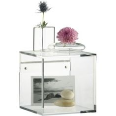 Love these - simple, modern, stylish and you can put stuff inside. Win!  Will get scattered on gallery wall above my credenza.  Think I'm going to get a couple for the bathroom too, just because they are so flippin' cute.