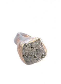 Pyrite cluster ring, absolutely in love