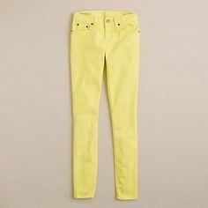 J.Crew yellow toothpick jeans