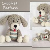 Puppy Crochet Pattern, Amigurumi Dog - via @Craftsy