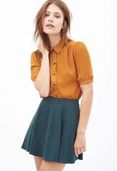 Dotted Crepe Blouse | FOREVER21 - 2000099596