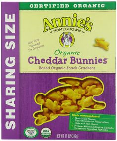 Annie's Homegrown Organic Cheddar Bunnies, 11 Ounce Boxes (Pack of 4) Annie's Homegrown,http://www.amazon.com/dp/B001PIH3MY/ref=cm_sw_r_pi_dp_DZ9Esb0WRFSESA0K