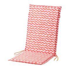 NÄSTÖN, Seat/back pad, outdoor, light red