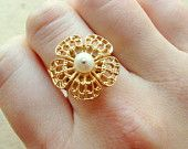 Jewelry and Accessories by FalseAngel Adjustable Ring, Etsy Seller, Unique, Rings, Creative, Flowers, Gold, Accessories, Jewelry