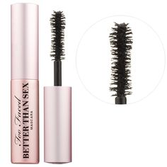 What it is: An intensely black, volumizing mascara with an hourglass-shaped brush that separates, coats, and curls each lash to voluptuous perfection.  What it does: Inspired by the curves of a woman's body, the hourglass-shaped brush was designed