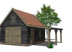 Houtbouw Garage Schuur : 26 beste afbeeldingen van houten schuren carport garage carriage