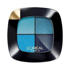 L'Oréal Paris Colour Riche Eyeshadow Quads Avant Garde Azure ($8.99) ❤ liked on Polyvore featuring beauty products, makeup, eye makeup, eyeshadow, palette eyeshadow, l'oréal paris and l oreal paris eye shadow