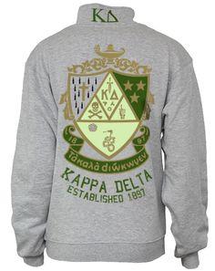 I want this soooooo badly!!!!  kappa-delta-crest-half-zip-back
