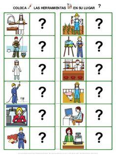 Relacionar vocabulario sobre las profesiones y oficios (en formato do…
